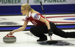 Curling Women Russia Alexandra Saitova Delivers Stock Photography