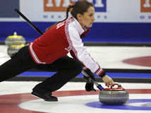 Curling Women Russia Anna Sidorova Royalty Free Stock Photos