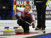 Curling Women Russia Rocks House Fomina Stock Photos