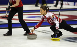 Curling Women Russia Skip Anna Sidorova Royalty Free Stock Photography