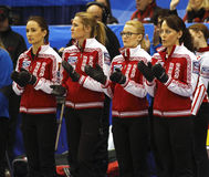 Curling Women Russia Team Stock Image