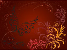 Curls Background 3. Background made of curls and butterfly Royalty Free Stock Image