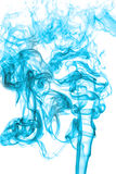 Blue smoke on white background, texture abstract Stock Photos