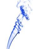 Curls of blue smoke on white background Stock Image