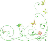 Curls and butterflies Royalty Free Stock Photos