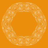 Curls circular pattern Royalty Free Stock Photography