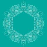 Curls circular pattern. Image Vector Illustration