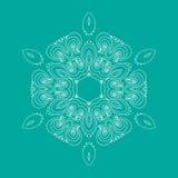 Curls circular pattern. Vector image Royalty Free Stock Image