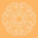 Curls circular pattern. Vector image Royalty Free Stock Photography
