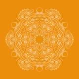 Curls circular pattern. Vector image Stock Photos