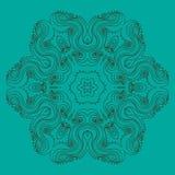 Curls circular pattern. Vector image Royalty Free Illustration