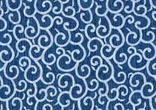 Curls and curves blue abstract. Stock Images