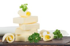 Curls of fresh butter Royalty Free Stock Photography