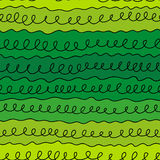 Curls line on a green background. Seamless pattern curls line on a green background Stock Images