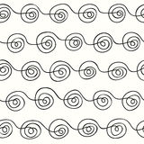 Curls line on a light background. Seamless pattern curls line on a light background Royalty Free Stock Photos