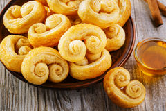Curls puff pastry Stock Photography