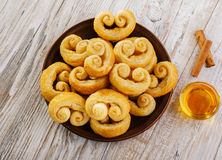 Curls puff pastry Royalty Free Stock Images