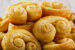 Curls puff pastry Stock Photos
