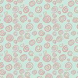 Curls seamless vector pattern in old-fashioned sty Stock Photos