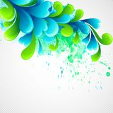 Curls watercolor background. Vector illustration. EPS 10 Royalty Free Stock Images