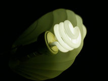 curly światła żarówki Obrazy Stock