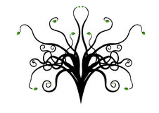 Curly abstract vector tree Royalty Free Stock Image