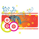 Curly artwork. Simple decorative curly artwork for background Stock Photography