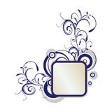 Curly artwork. Simple decorative curly artwork for background Royalty Free Stock Photos