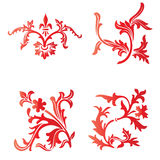 Curly artwork. Simple decorative curly artwork for background Stock Image