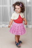 Curly baby girl Royalty Free Stock Photo