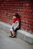 Curly beautiful girl urban portrait Stock Image