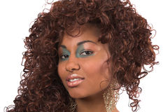 Curly beauty stock images
