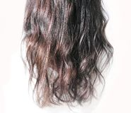 Curly black hair texture Royalty Free Stock Photo