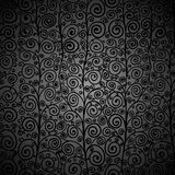 Curly black seamless pattern Stock Photo