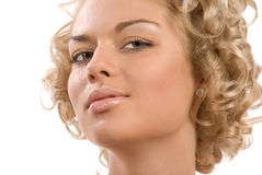 Curly blond Royalty Free Stock Photos