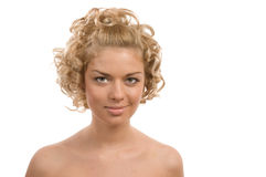 Curly blond Royalty Free Stock Images
