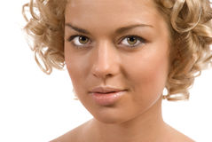 Curly blond Royalty Free Stock Image