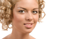 Curly blond Royalty Free Stock Photography