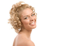 Curly blond Stock Photo