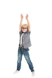 Curly blond boy Royalty Free Stock Image