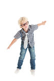 Curly blond boy Stock Photography