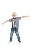 Curly blond boy Royalty Free Stock Images