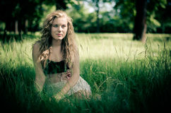 Curly blonde Royalty Free Stock Images