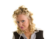 Curly Blonde Head and Shoulders Stock Photography