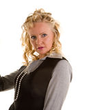 Curly Blonde Leaning Back Royalty Free Stock Photo