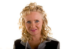 Curly Blonde Open Smile Royalty Free Stock Image