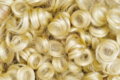 Curly blonde wig Royalty Free Stock Photo