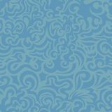 Curly blue seamless pattern Royalty Free Stock Images
