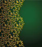 Curly border. Vector floral seamless decorative border Stock Image
