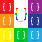 Curly Bracket icon set, Colorful  logo Royalty Free Stock Photography
